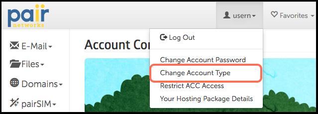 change account type image
